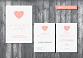 wedding invitations with hearts wedding invitation suite digital printable file heart wedding