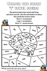 Use this colorful free printable phonics worksheet to teach your young learner about the long vowel a. Short Vowel Colouring Worksheets Editable Templates Making English Fun