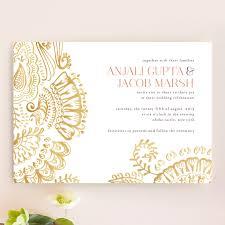 Modern Mehndi Wedding Invitations By Laura Condouris Minted