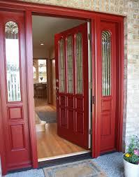 red front door on brick house. Red Front Door On Brick House W