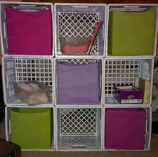 milk crate storage.  Crate DIY Fabric Bin Storage Just Use Milk Crates Not The Ones You Buy At Wal  Mart But Actual 4 Gallon Crates Tie Together With Zip Ties And If  For Milk Crate Storage