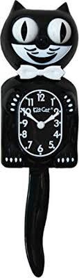 clocks kit cat clock classic black