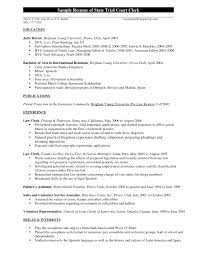 Judicial Law Clerk Resume Judicialerkship Resume Foodcityme Courterk Example Collection Of 1
