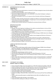 Revenue Manager Resume Examples Revenue Manager Resume Samples Velvet Jobs 1
