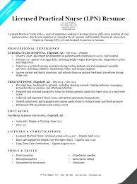 Lpn Resume Sample Professional Free Sample Resume For Licensed
