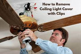 remove ceiling light cover with clips
