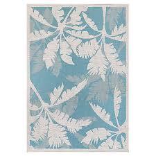 9x13 8 6 x 13 tropical coastal palm aqua blue indoor