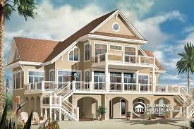 House Plan W3939 Detail From DrummondHousePlanscomLake Front Home Plans