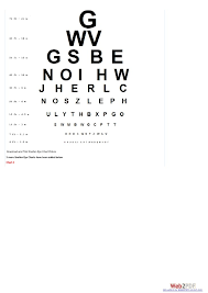 Eye Chart And Sight Information