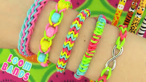 How To Make Loom Bands 5 Easy Rainbow Loom Bracelet Designs Without A Loom Rubber Band Bracelets