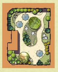 Small Picture Plan rendering of the zen garden at Avita Assisted Living in