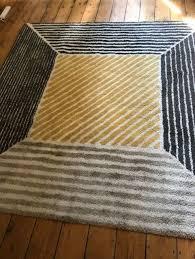 large ikea grey yellow fawn rug