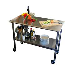 Stainless Top Kitchen Table 2ft X 4ft Stainless Steel Top Kitchen Prep Table With Locking