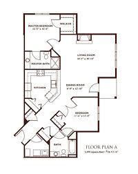bedroom floor plan.  Plan 2 Bedroom Floor Plan  A  In