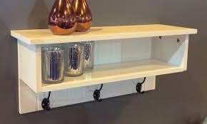coat hook hall storage shelf