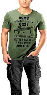 Usmc 0331 Usmc Infantry Machine Gunner Mos 0331 Semper Fi 2 Sided Print