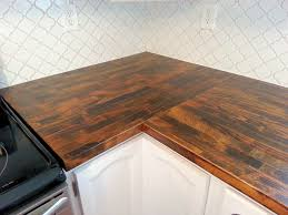 stained ikea butcher block countertop and moroccan tile backsplash quasi reveal we own blackacre