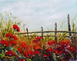 red poppy fields by zoran zivotic oil painting