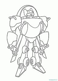 rescue bots blebee coloring pages chase for kids within