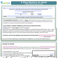 notice to owner form florida florida notice to quit
