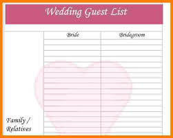 7+ Wedding Guest List Template | Ledger Review