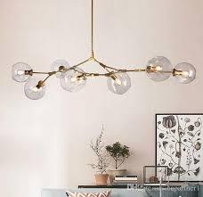 glass chandelier 1 3 5 7 heads glass ball branching drop hanging light modern glass bottle chandeliers light for kitchen living room office lantern pendant