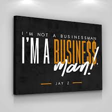 Jay Z Entrepreneur Quote Wall Art Canvas Print Office Decor