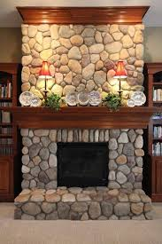 17 best ideas about river rock fireplaces on for cute river stone fireplace