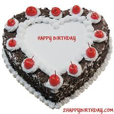 Heart Shaped Black Forest Birthday Cake For Lover 2happybirthday