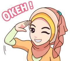 Tentu saja tema acara halal bihalal memang telah banyak dicari oleh orang di internet. Stiker Wa Line Fb Chat Ok Cartoon Kartun Meme Lucu Islami Ukhty Muslim Hijab Cakkocem Akhy Gokil Vector Ilustrasi Lucu Kartun Semuanya Lucu