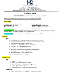 Project Templates Word 17 Free Scope Of Work Templates In Word Excel Pdf