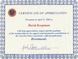 Certificate Of Appreciation Text Award Certificate Wording Para Sys