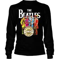 Band Tee Designs Vintage The Beatles Band Tee English Rock Band Shirt Sgt Peppers Lonely Hearts Club Band Shirt Long Sleeve Tees
