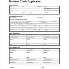 Personal Credit Application Form Free 20552212360061 Business
