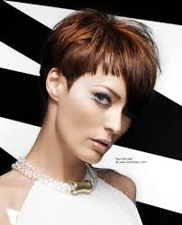 Hairstyles With Blunt Fringe Short Hairstyle With An Asymmetrical Fringe And Blunt Side Burns