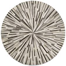 grey cowskin cm diameter contemporary round rugs  quality from