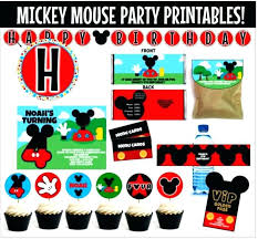 Mickey Mouse Party Printables Free Free Mickey Mouse Clubhouse Printables Altrementi Info