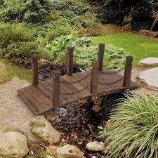 outsunny 5ft wooden garden bridge arc