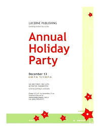 Free Holiday Party Invitation Templates Printable Template