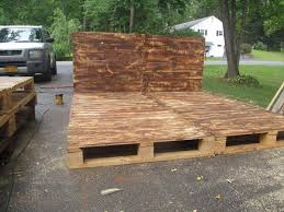 pallet furniture etsy. Diy Queen Size Pallet Bed Platform With Headboard   Furniture Etsy L