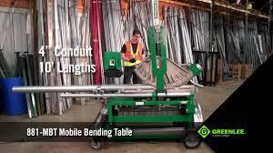 Greenlee 881 Table Bender Chart Greenlee 881 Mbt Mobile Bending Table