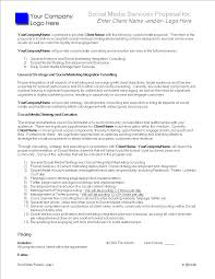 Social Media Proposal Template Social Media Services Proposal Templates At
