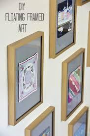 diy floating framed art tutorial on mad g designs blog