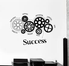 office motivation ideas. Vinyl Wall Decal Success Words Gears Office Motivation Stickers Unique Gift (ig4481) Ideas L