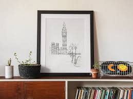 ontario skyline art gift decor home