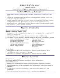 Pharmacy Tech Resume Template Delectable EntryLevel Pharmacy Technician Resume Sample Monster