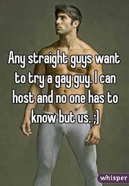 Straight guy trying gay