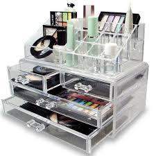 acrylic large makeup organizer drawers mugeek vidalondon make up jewellery organiser