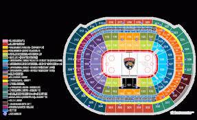 Florida Panthers Stadium Seating Chart Florida Panthers Home Schedule 2019 20 Seating Chart