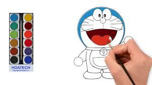 Tô màu cho nhân vật hoạt hình Doremon   How to Draw Doremon Youtube Videos  for Kids - Hướng dẫn vẽ và tô màu tranh đẹp nhất - Kho gấu bông giá